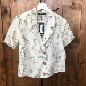 Nasty Gal Floral Blouse